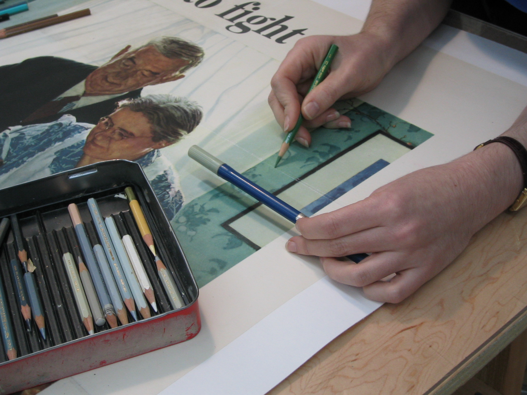 M & W Poster Restoration, Conservation and Linen Backing, post-mount image